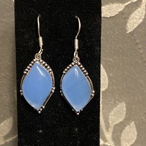 Beautiful Sky Blue Chalcedony Earrings